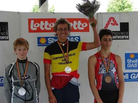 Thomas Jurgens : kampioen van Belgie  jeugd B