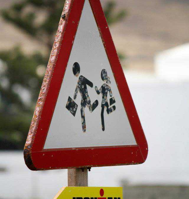 Triatleten gestrand in Lanzarote