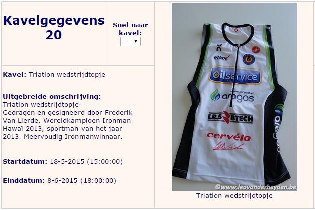 Gesigneerde trisuit van Frederik Van Lierde voor De Klokke