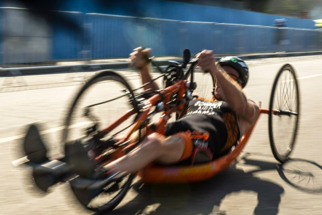 Geert Schipper op weg naar brons op olympisch testevent (Foto: Rio 2016/Alex Ferro)