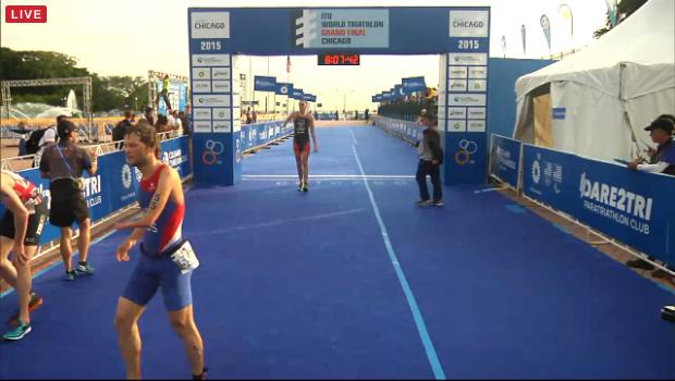 Sjaak Van den Berg Chicago finish