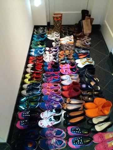 De schoenenverzameling van Rachel Klamer
