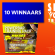 De 10 winnaars van de Powerbar Training Packs