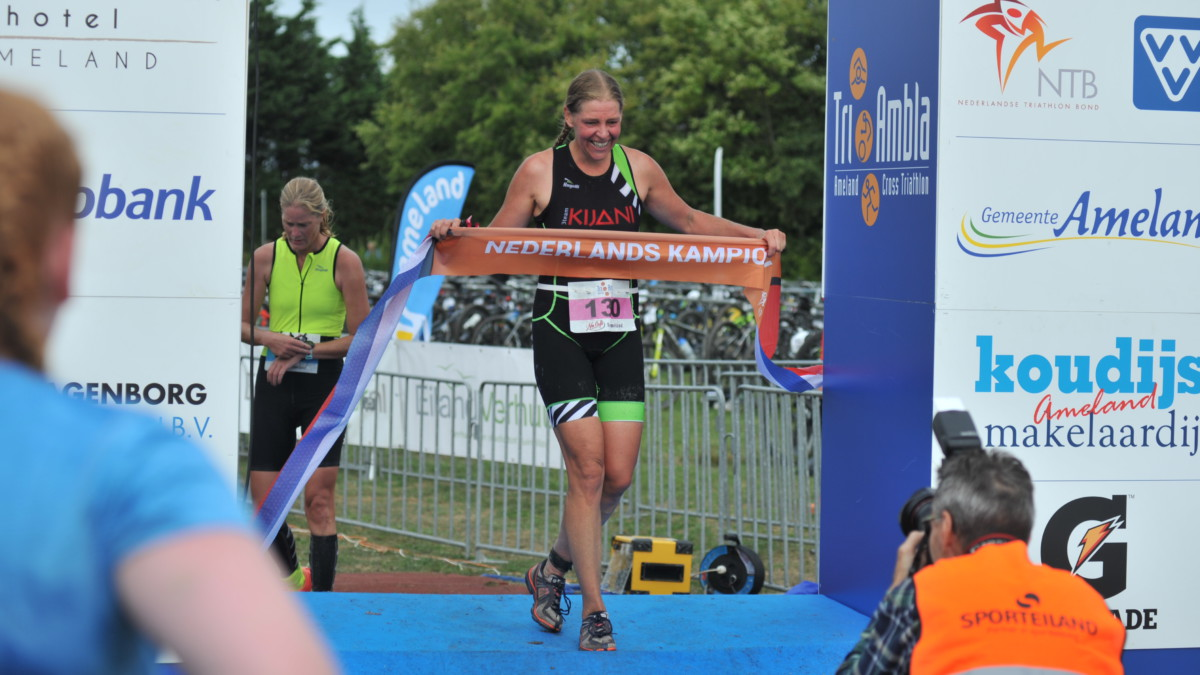 Ingrid van Lubek over haar Nederlandse titel Cross Triathlon