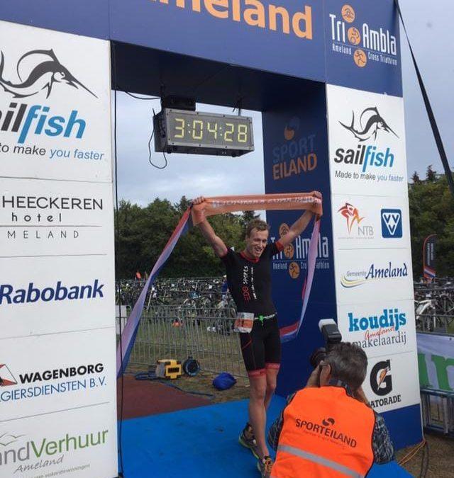 Joep Staps en Ingrid van Lubek Nederlands Kampioenen cross triathlon