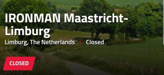 Streep door Ironman 70.3 Westfriesland, Maastricht waarschijnlijk ook van kalender