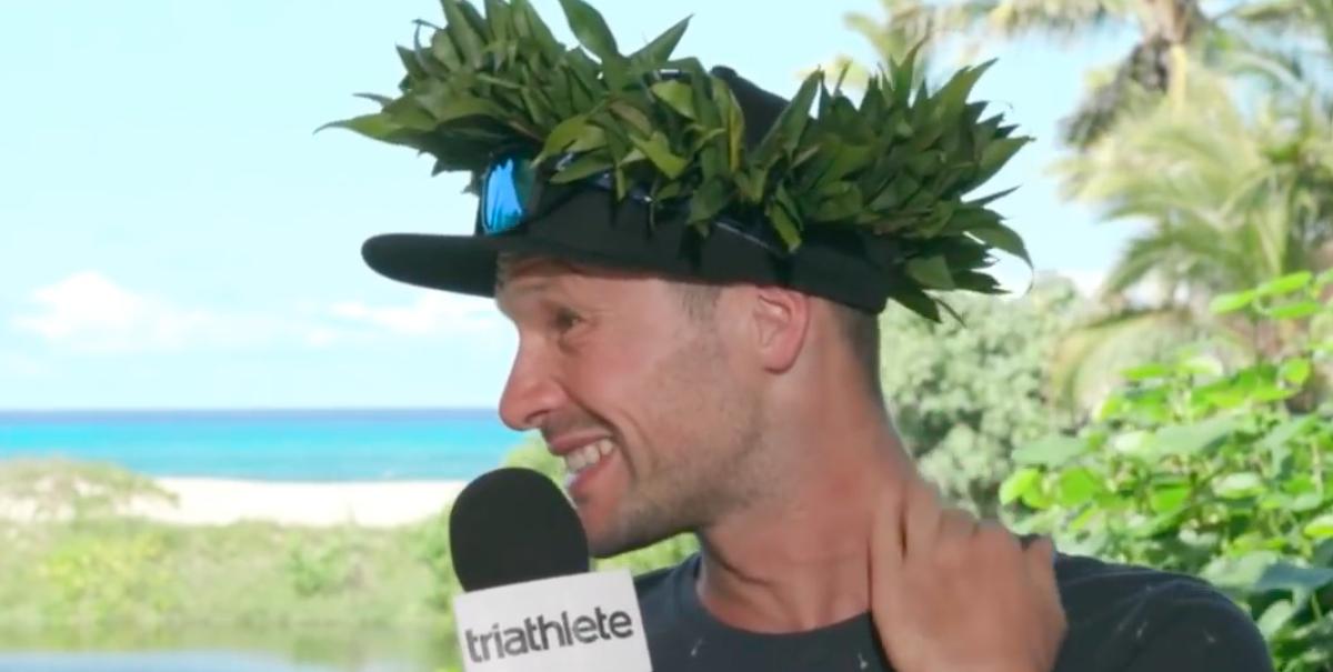 Patrick Lange na winst Ironman: 'Er stond een grote druk op me, maar probeerde constant kalm te blijven'