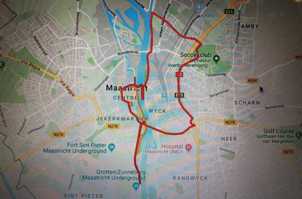 Parcours Ironman 5150 Maastricht bekend
