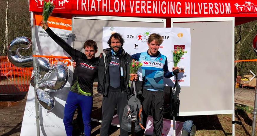 Yennick Wolthuizen en Marije Pieterse-te Raa pakken winst Run Bike Run Series Hilversum