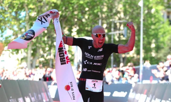 Andi Böcherer en Emma Pallant pakken winst Ironman 70.3 Pays d'Aix