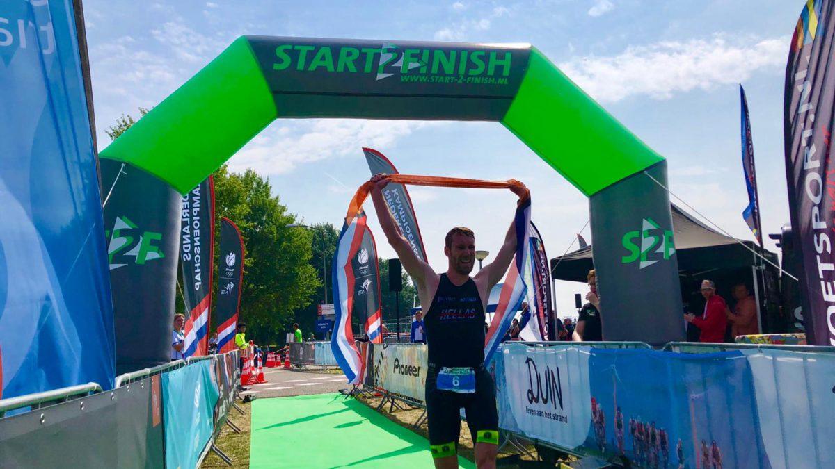 Jelle Lugten en Marina van Dijk kronen zich Nederlands kampioen Duathlon Lang