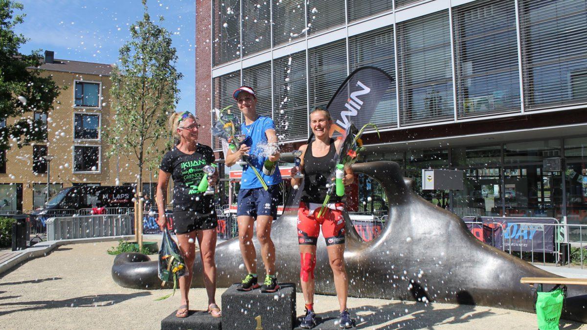 Izak Hanse en Carla van Rooijen winnen eerste Triathlon Vathorst