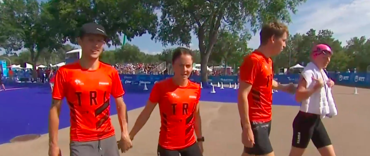 Nederland pakt achtste plaats Mixed Team Relay Edmonton