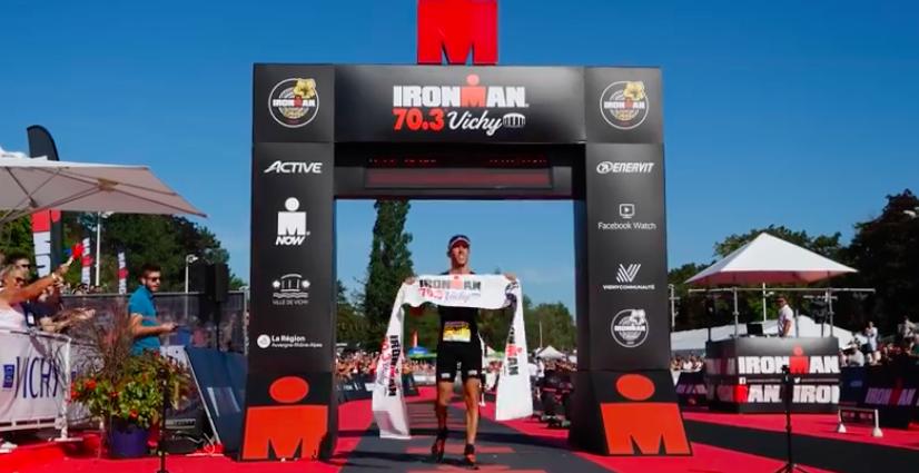 Yohan le Berre en Emma Pallant winnen Ironman 70.3 Vichy