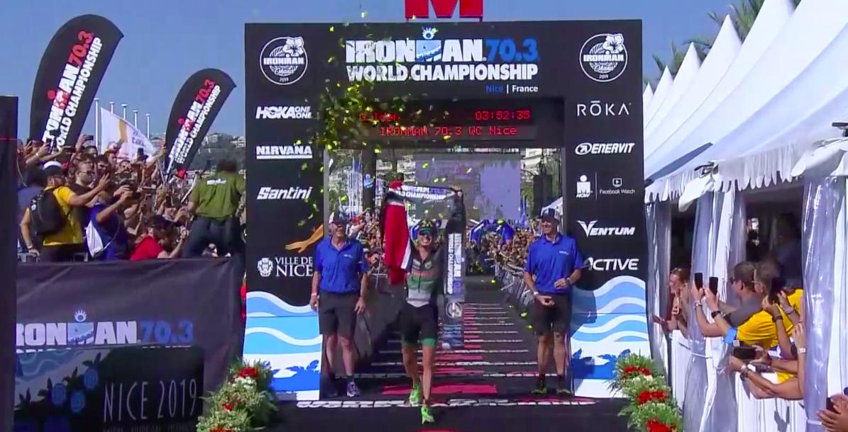 Ongenaakbare Noorse Gustav Iden pakt goud WK Ironman 70.3 Nice