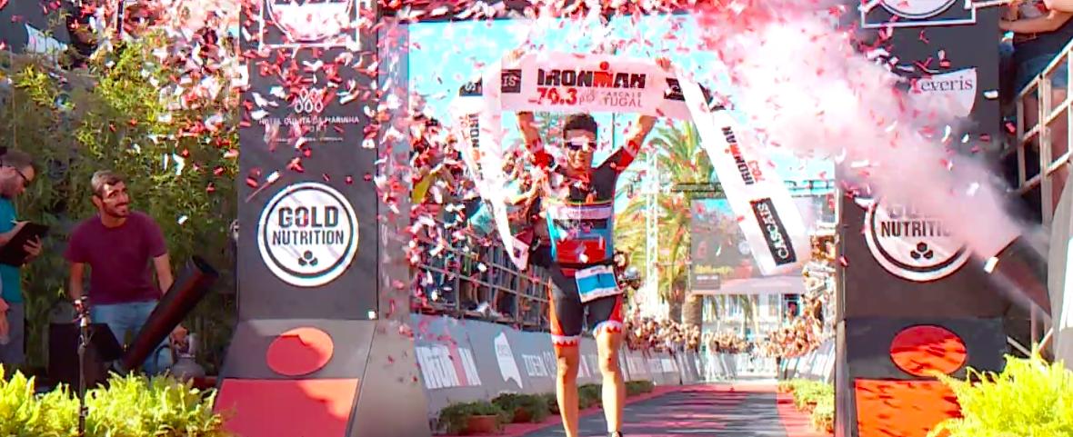 Javier Gomez en Emma Pallant ongenaakbaar Ironman 70.3 Cascais; Tristan Olij 13e