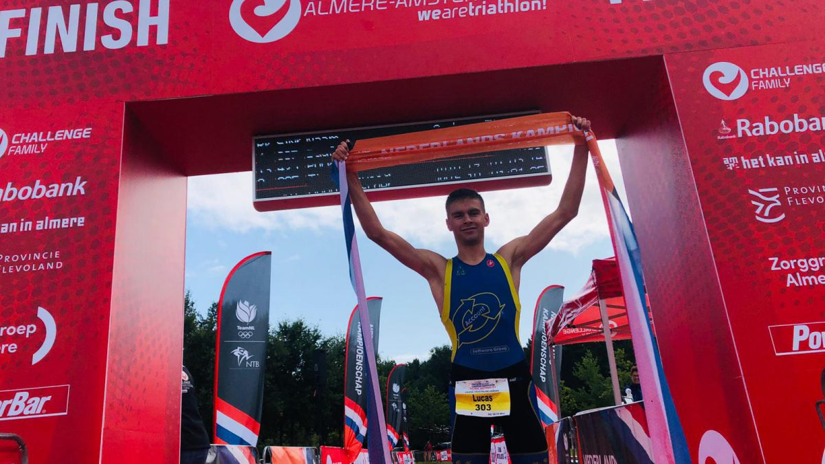 Nederlandse titels Cross Triathlon Junioren voor Lucas Goené en Kim van 't Verlaat
