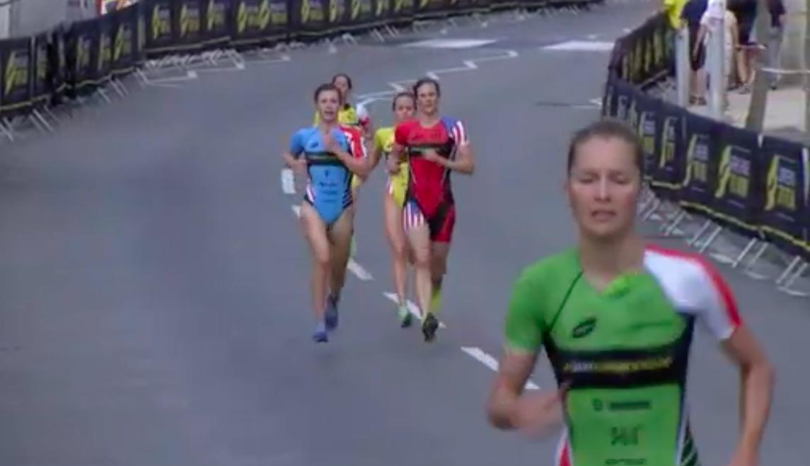 Rachel Klamer pakt geweldige 2e plaats semi-finals Super League Triathlon Malta achter Katie Zaferes