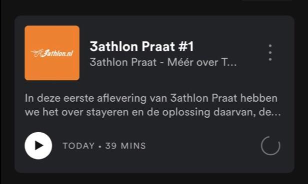 3athlon introduceert Podcast: '3athlon Praat'