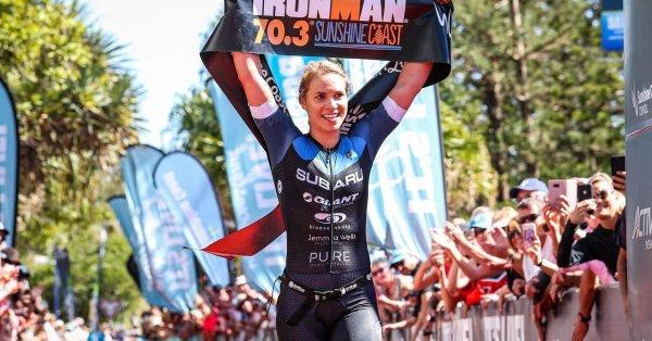 Max Neumann en Hannah Wells oppermachtig tijdens Ironman 70.3 Western Sydney