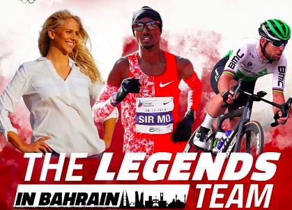 McCardel, Cavendish én Farah als 'legends team' los in Bahrein