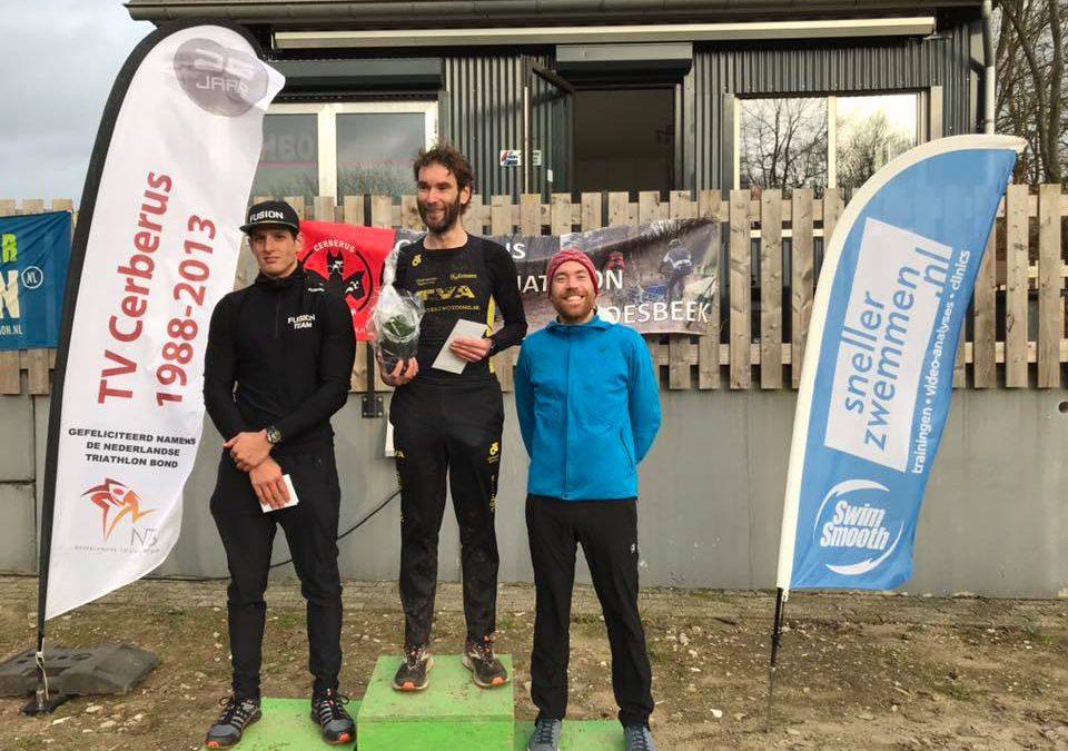 Johan Christen en Linda van Vliet winnen Cerberus Cross Duathlon, Schouten en Scheltinga beleven pechdag