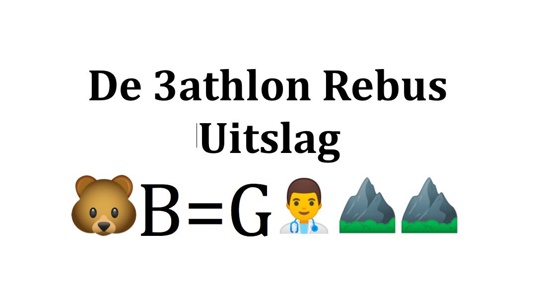 Uitslag 3athlon triathlon rebussen