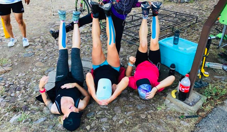 Laura Knoblach volbracht een Double Deca Ultra Triathlon, ofwel 20 Long Distances: 'Het is echt niet zoveel'