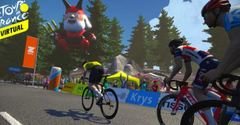 Vanaf nu ook op Mont Ventoux en Champs Elysees fietsen op Zwift