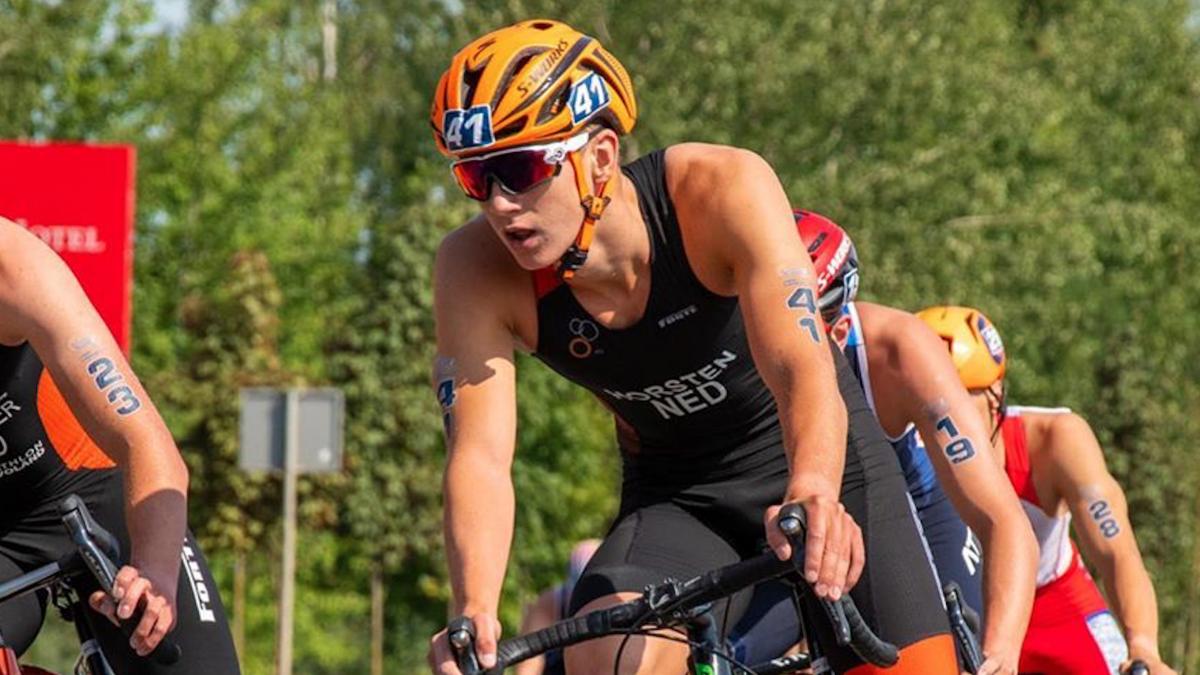 Dorian Horsten over ETU Cup Olsztyn: 'Ik ben niet helemaal tevreden over de race'