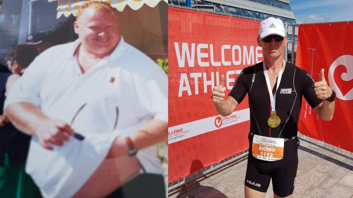 Triatleet Aschwin IJzendoorn viel meer dan 75 kilo af: 'Je moet eerlijk tegenover jezelf zijn'