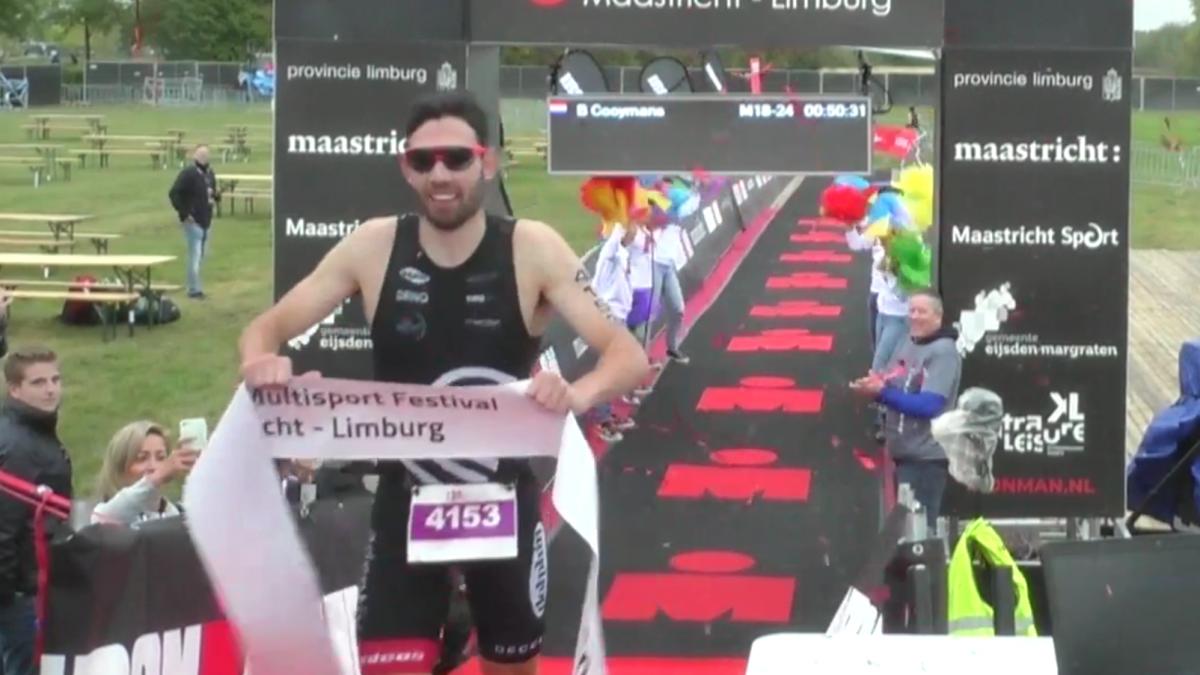 Bart Cooymans en Sione Jongstra pakken overwinning Ironman 4184 Maastricht