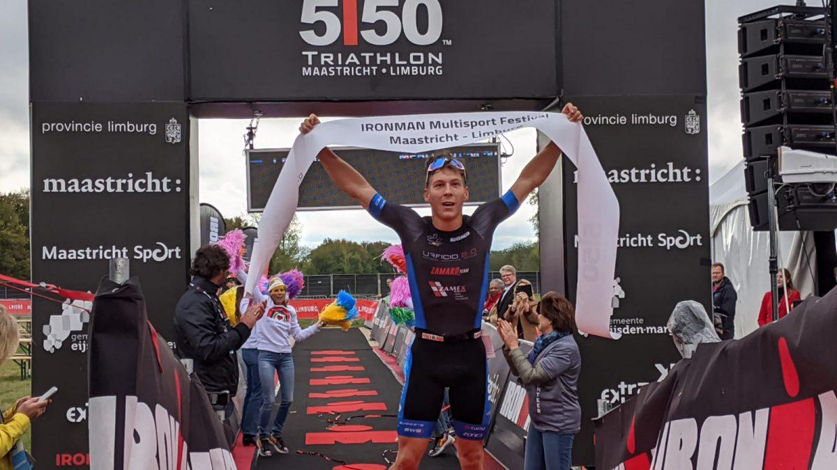 Denderende overwinningen voor Youri Keulen en Maya Kingma Ironman 5150 Maastricht [VIDEO]