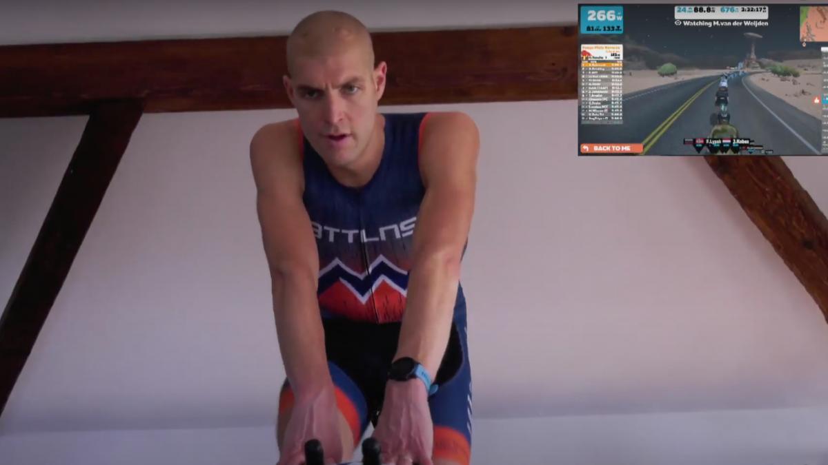 Maarten van der Weijden op hoog tempo door 180km heen, topatleten sloten aan