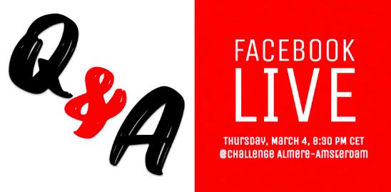Challenge Almere-Amsterdam Race Director Richard Belderok organiseert FB Live Q&A