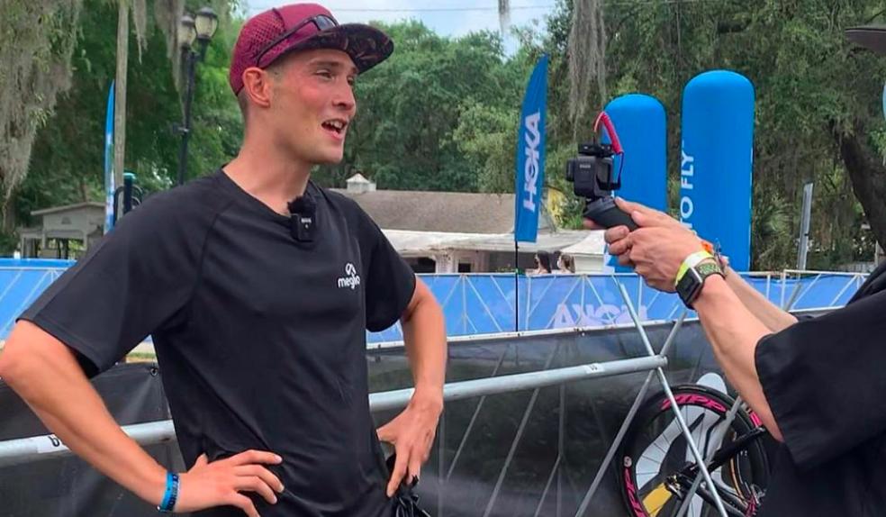 Sterk fietsende Michiel de Wilde (17e) gaat kapot tijdens run IM 70.3 Florida, Tom Oosterdijk stapt uit na zwemmen