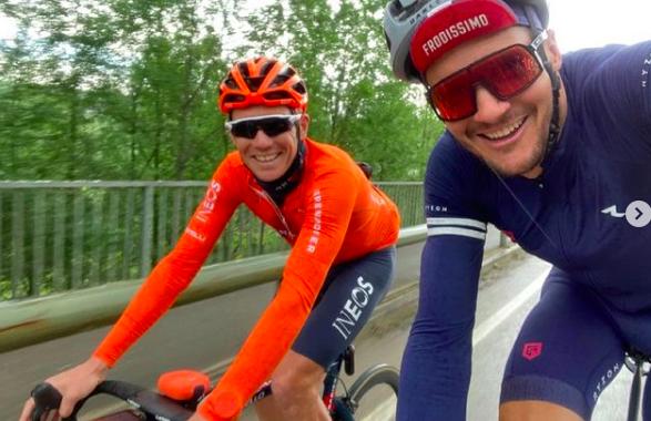 Jan Frodeno en Cameron Wurf zoeken elkaar op voor training in Gerona
