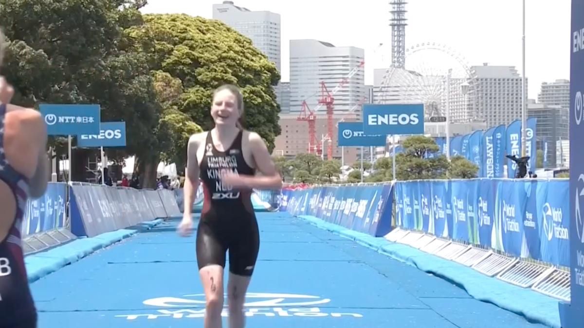 Maya Kingma laat met geweldige derde plek WTCS Yokohama Olympische waarde zien