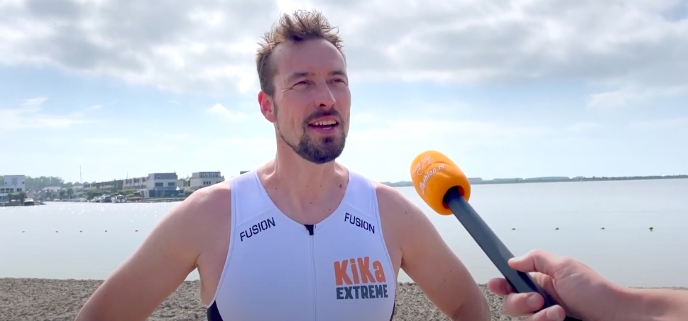 [VIDEO] Allard Wieringa strijdt voor KiKa Extreme, bereidt zich voor op Ironman 70.3 Luxemburg