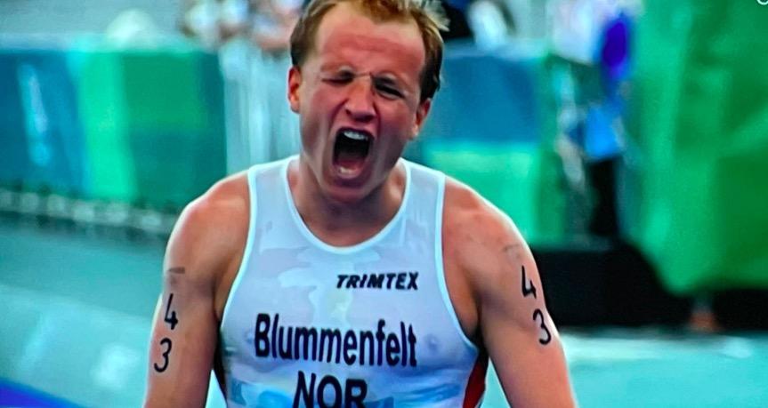 Kristian Blummenfelt loopt dankzij maximale krachtsinspanning naar zinderende Olympische titel