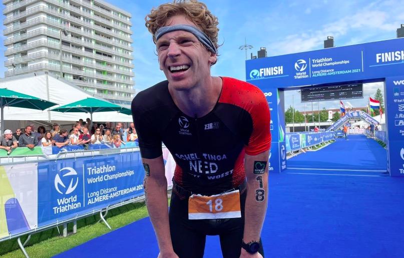 [VIDEO] Evert Scheltinga naar allersnelste Nederlandse triathlontijd ooit, vierde op WK