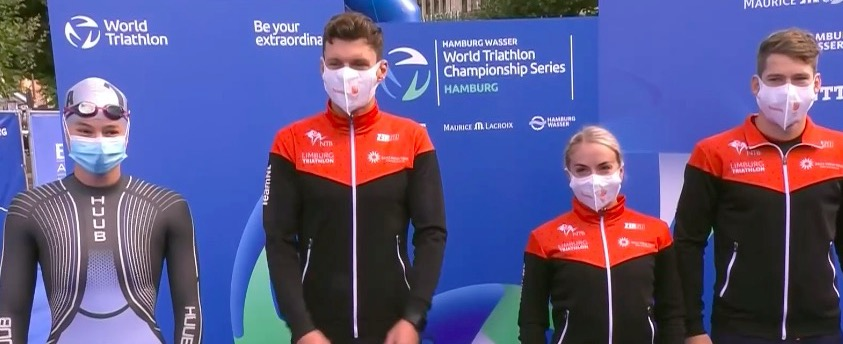 Jong Nederlands Mixed Relay Team middenmoter WTCS Hamburg