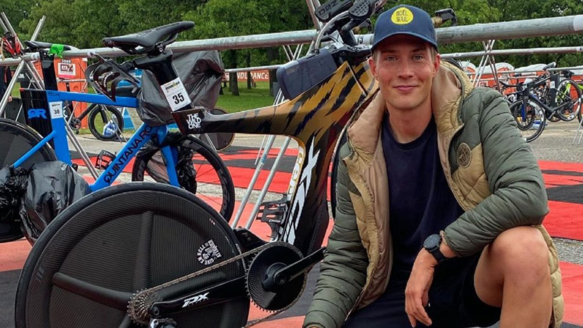 Michiel de Wilde 26e tijdens door Denis Chevrot gewonnen Ironman Austria-Kärnten